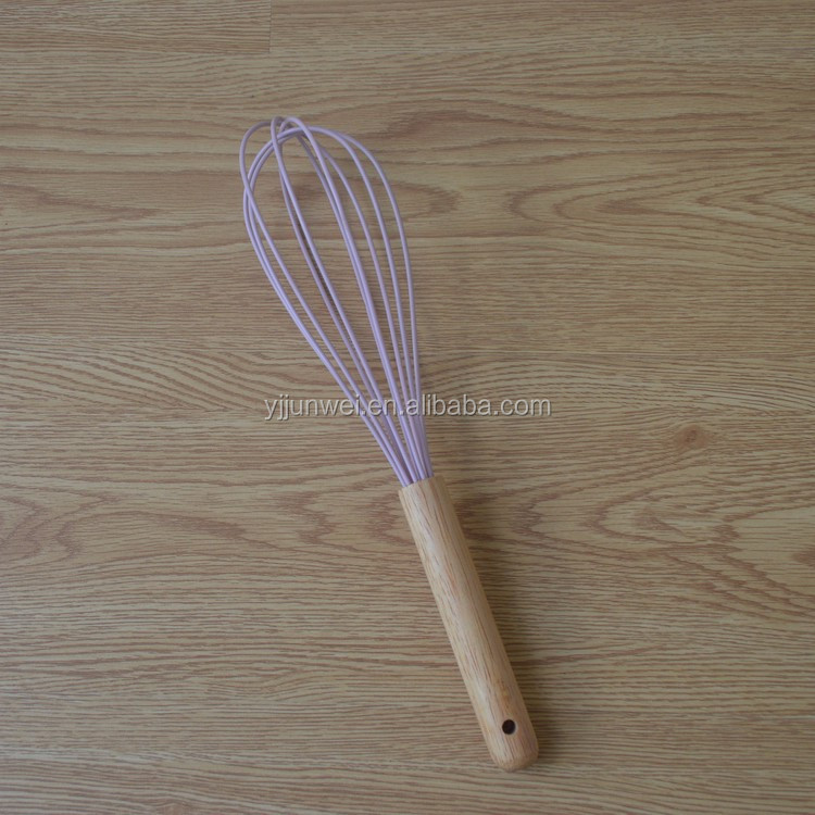 DW01 High quality wire egg whisk with wooden handle