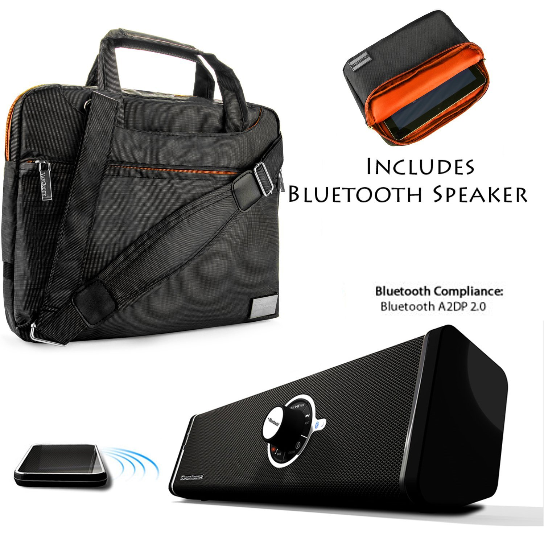 "NineO Sport Nylon Shoulder Bag Carrying Case For Samsung Nexus 10, Tablet PC (Manta) 10"" + Bluetooth Speaker"