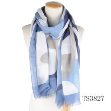 TOROS Wholesale Promotional Women 100 Polyester Silk Scarf Printed Custom Cheap Long Scarf