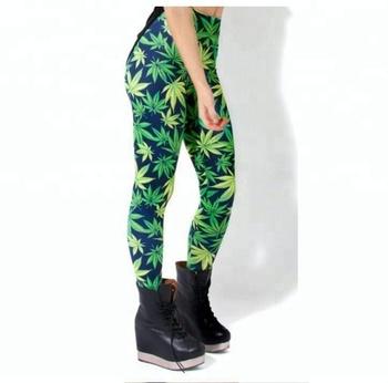 9d58c17851593 2016 Fashion Woman Leaf Design Tights Custom Sexy Woman Weed Leaf Leggings