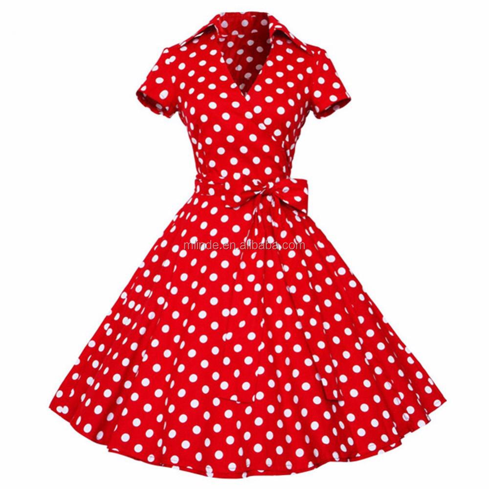 Obliging Spring Autumn Polka Dot Dresses Women 50s 60s Vintage Robe Swing Elegant Party Dress Long Sleeve Casual Retro Print Vestidos Dresses
