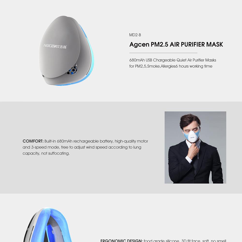 静電 Usb 空気クリーナーウェアラブルポータブル空気清浄機マスク Purificadores デエアー実行するための