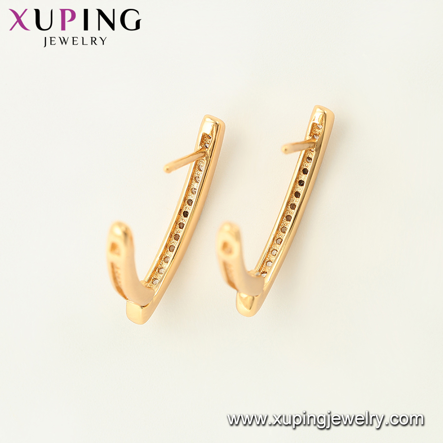 97069 xuping jewelry 18k gold color  Synthetic CZ women earrings