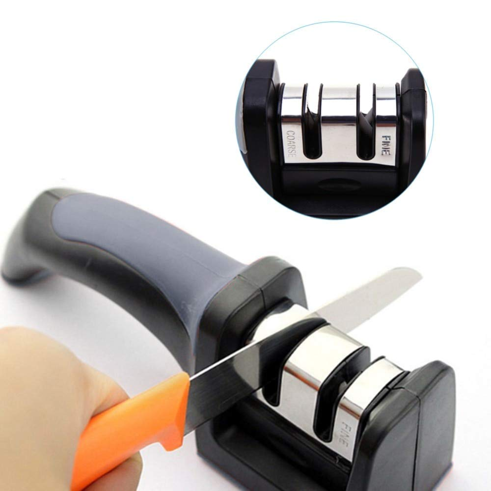 Westsell Stainless Steel 2 Stages Knife Sharpener Ceramic Knife Sharpening Stone Tungsten Steel Diamond Sharpener Kitchen Tools