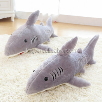 Tog Giant Shark Stuffed Animal Doll Gray Child Pet Hugging Pillow