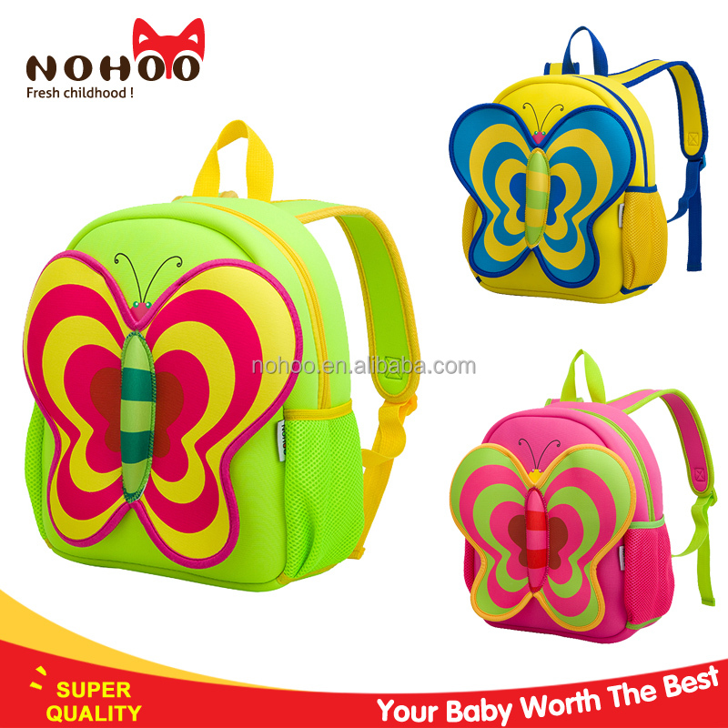 Lovely stylish butterfly images of children school bag kids 3D Animal Backpack