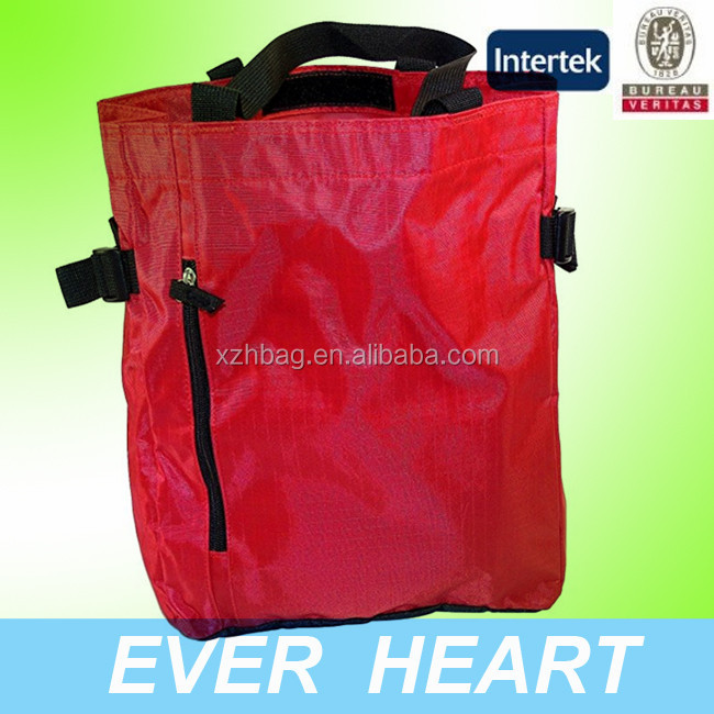 Heavy Duty Polyester Ripstop Fabric Velcro Closure Shopping Tote