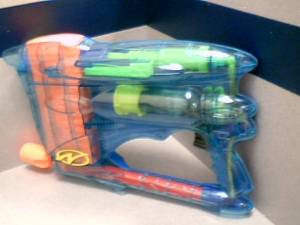 2000 Hasbro Nerf PowerClip DX 1000 Airjet Power Plus Air-Pump Action Dart Gun