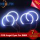 E39 E46 3 5 Series Xenon White Headlight COB LED Angel Eyes Halo Rings Kit For BMW