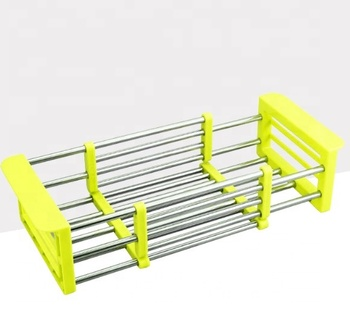 2018 Hot Kitchen Sink Rack Stainless Steel Foldable Dish Cutlery Drainer Drying Holder Fruits Cup Dish Sink Rack Drying Tool Buy Kitchen Sink Drain Dish Rack Stainless Steel Foldable Dish Bowl