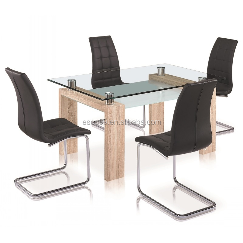 Modern Outlook And Contemporary Style Cheap Dining Table With Glass Top