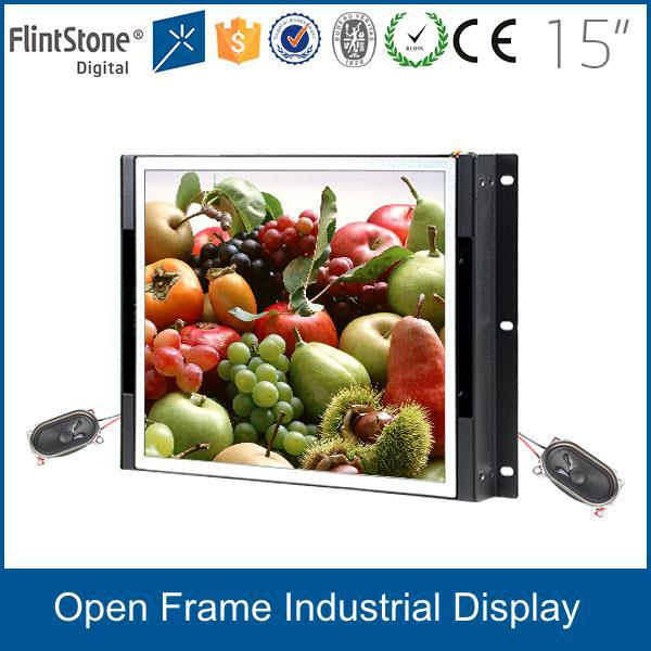 Flintstone 15 inch safty monitoring center framless 1280*800 video wall digital signage pc monitor with USD/VGA input