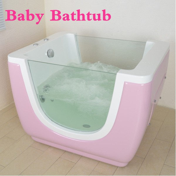 Acrylic Pink Whirlpool Massage Jets Baby Tub - Buy Baby Tub,Mini ...
