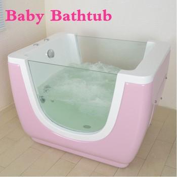Acrylic Pink Whirlpool Massage Jets Baby Tub - Buy Baby Tub,Mini ...