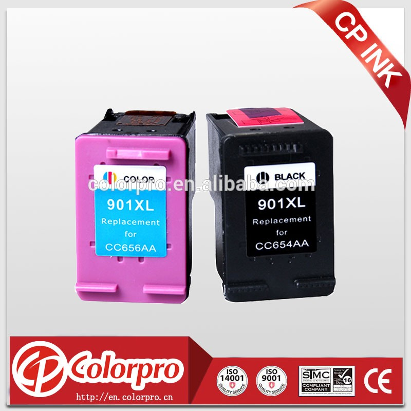 Made in China printers compatible ink cartridge for hp 901 with show ink level chip