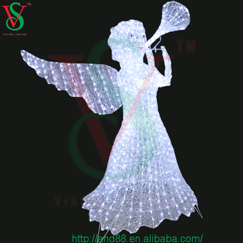 Led Acrylic Outdoor Christmas Decorations Lighted Christmas Garden Decor  Angel