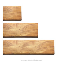 Wall Mount Magnetic Knife Holder, Bamboo, Wood, Plastic Covers, Permanent Neodymium Magnet Type