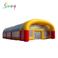 22x12x6mH Inflatable Football Field /Soccer Field /Football Pitch For Adults Sport Game