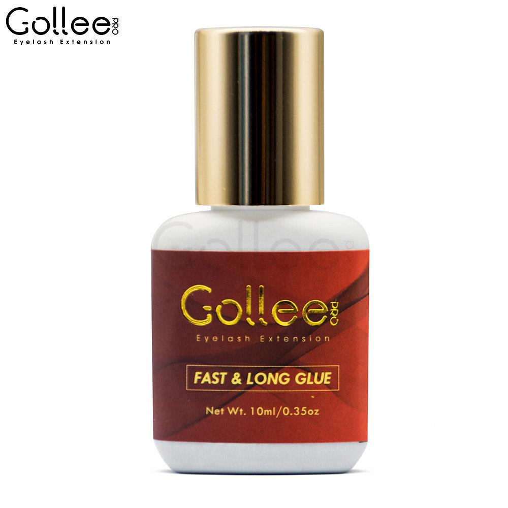 Private label 7 weeks Long Lasting Non Latex Glue for Eyelash Extension, Gloosy black non latex eyelash glue
