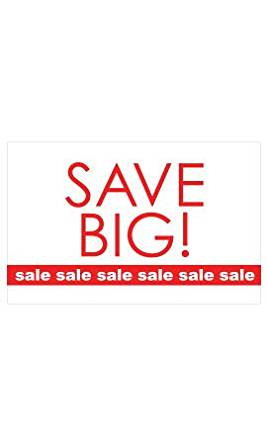 Medium Save Big - Sale, Sale, Sale Sign Card (Pack of 25) - STOR-15832