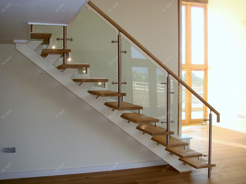 Wonderful Indoor Wood Step Straight Staircase With Glass Railing   Buy Wood Step  Staircase,Indoor Staircase,Staircase With Glass Railing Product On  Alibaba.com