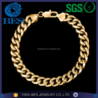 High Quality Copper Jewelry Cuban Link Chain Ally Express Wholesale Bracelet Men