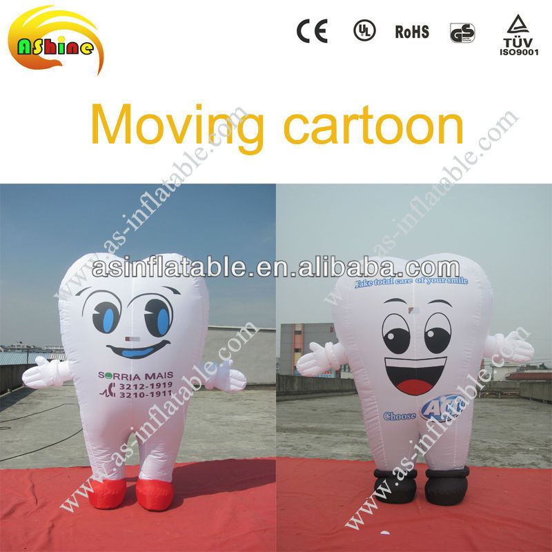 promotional inflatble tooth cartoon for advertising