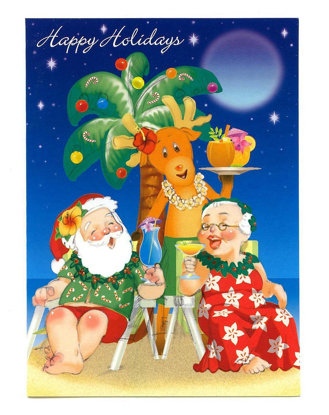 Buy Hula Wahine Hawaiian Christmas Cards12 In Cheap Price On
