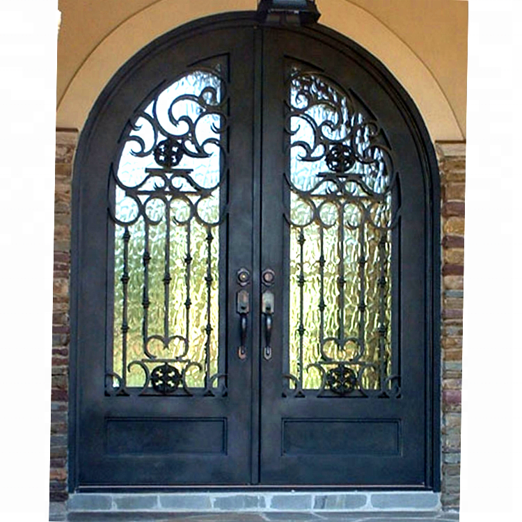 double custom wrought iron glass entry <strong>doors</strong>