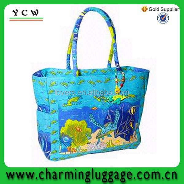 sea world picture folding Canvas eco shopping bag