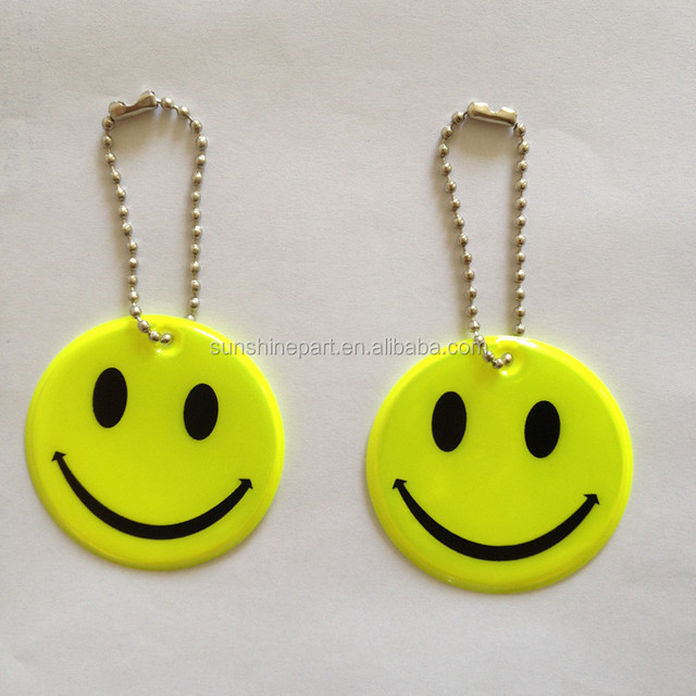 CE High Quality Promotion soft PVC reflective keychain