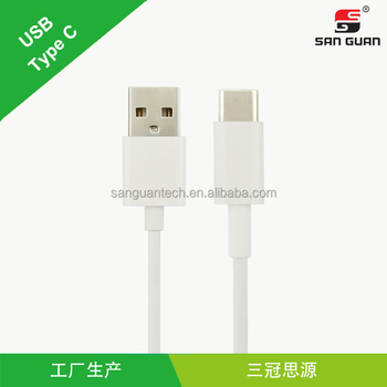 1m TPE usb cable type c to usb type a with ABS shell white color