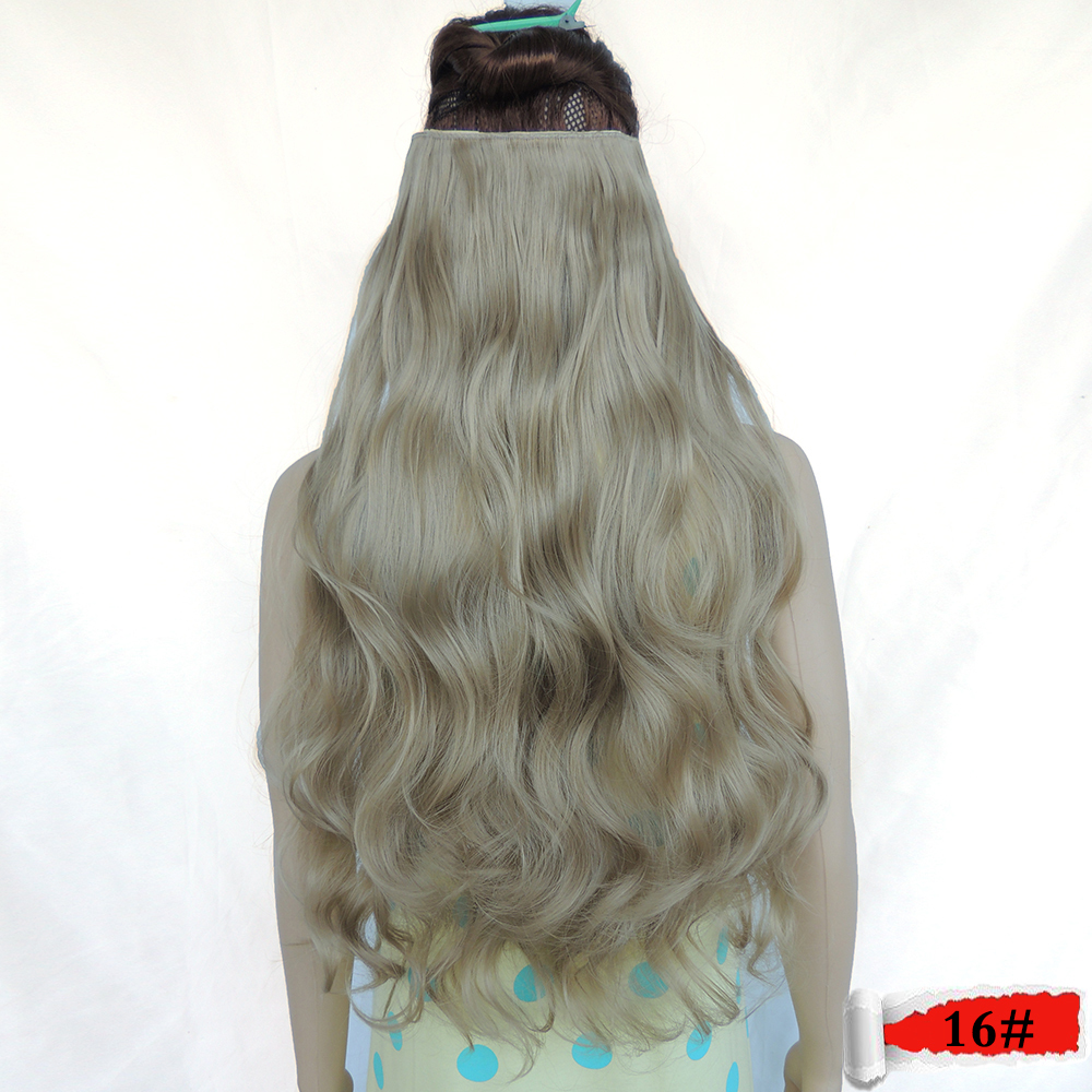 Buy 5 Clip In 28 Inch 120g Flaxen Color 25 Curly False For The Hair