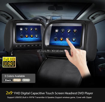 9inch digital screen headrest dvd monitor car audio video dvd with 9inch digital screen headrest dvd monitor car audio video dvd with sony lens sd usb ir publicscrutiny Image collections