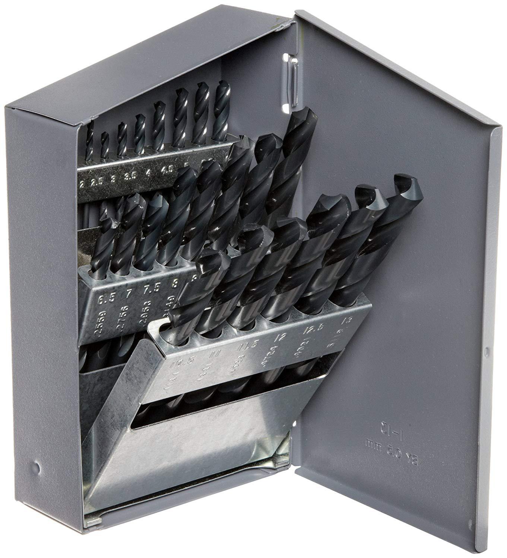 Inch 135 Degree Split Point 15-piece 1//16-1//2 in 1//32 increments Chicago Latrobe 159 Series High-Speed Steel Short Length Drill Bit Set In Metal Case Black Oxide Finish