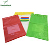 Colour micro-perforated fresh vegetable shopping plastic bags on roll