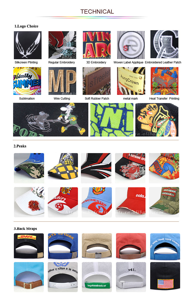 100 cotton 6 panel promotional baseball cap with embroidery logo