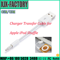 Top 3 factory!New fashion Cable Cord for Apple iPod 3.5mm Jack to USB SHUFFLE CABLE with chip