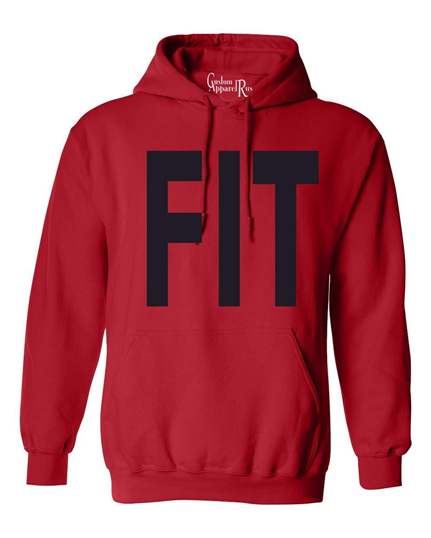 bc18cc0c4 Get Quotations · Custom Apparel R Us Fit Workout Gym Athletic Mens Womens  Hoodie Sweatshirt
