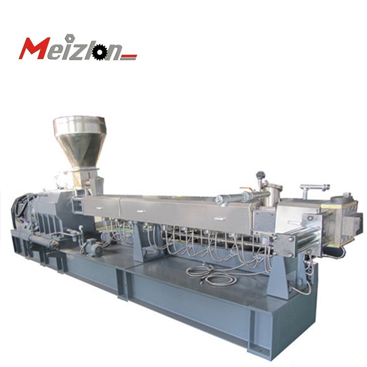 Water-cooling pelletizing/cutting/granulating twin screw extruder for CACO3 masterbatch/EVA/PIB/EPDM/TPU/TPE
