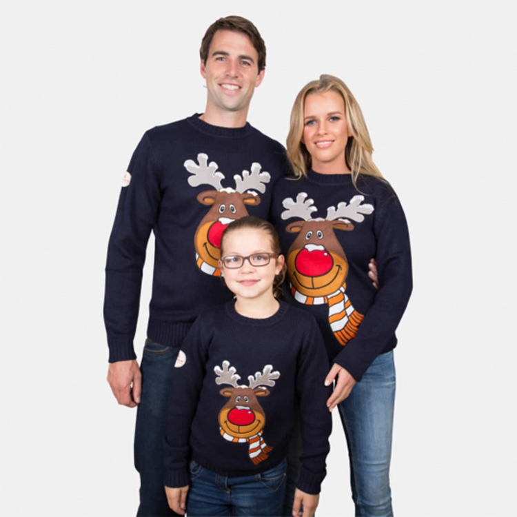 Custom parent child clothing adult kids christmas sweater ugly