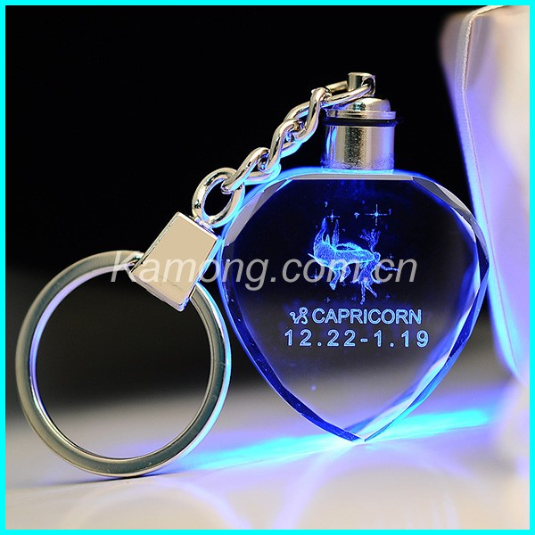 Popular promotion keychains ,crystal keychain with laser engrave logo For wedding souvenirs