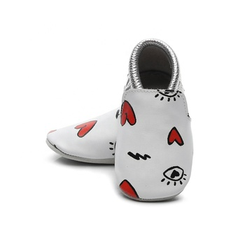 Cute quality Soft Boy Print Genuine leather in bulk suede baby moccasins