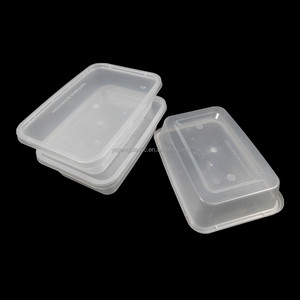Rectangular plastic small food togo containers with BPA free