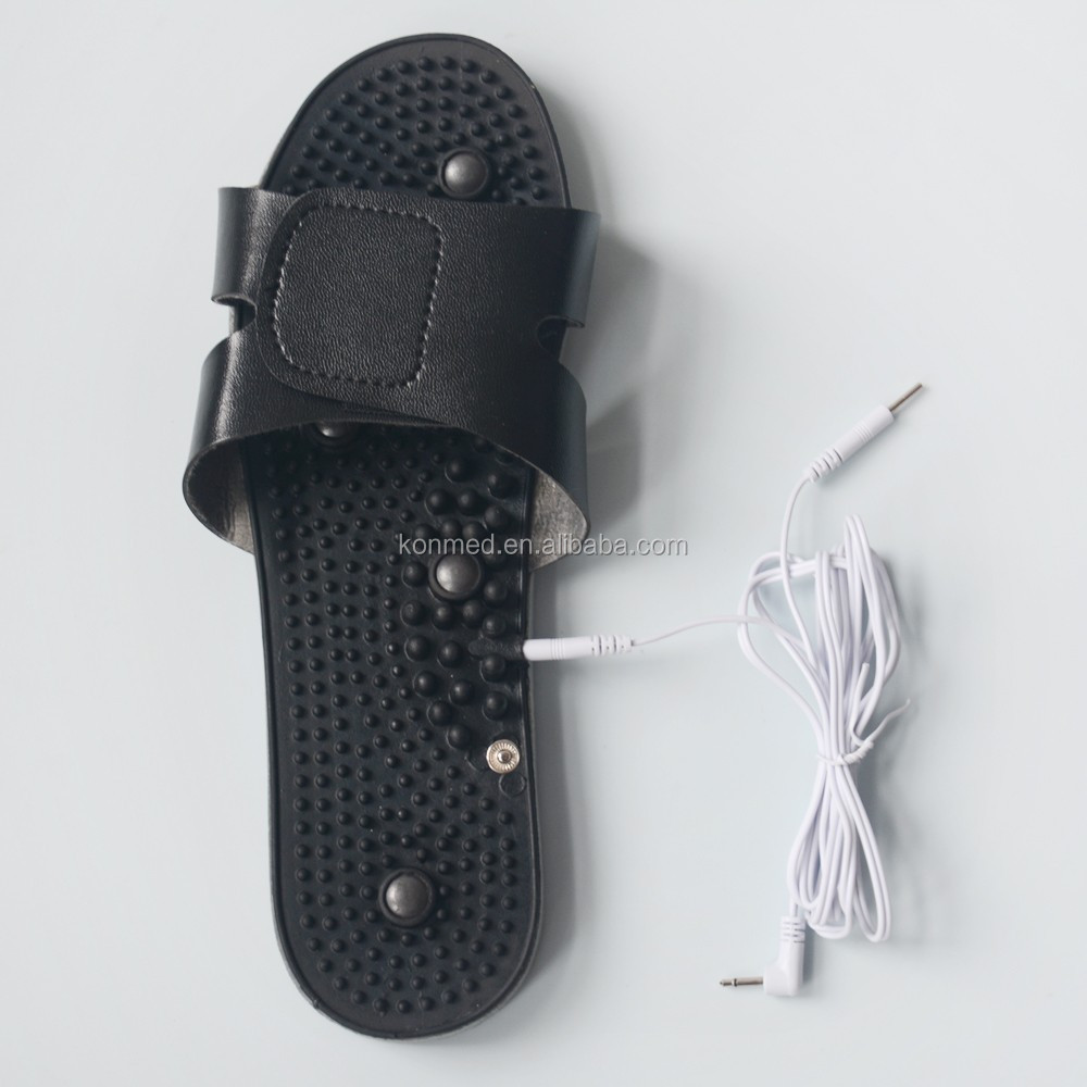 Foot massage physiotherapy electronic vibrating massage shoes work with Tens