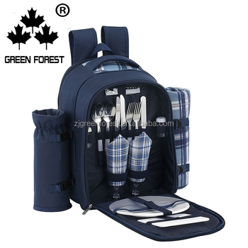 2018 Whole Picnic Bag Waterproof Fashionable 2 Person Cutlery Wine Travel And Set