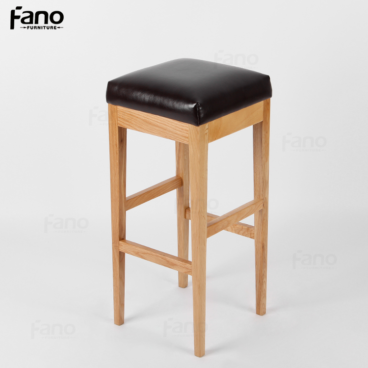hohe holz barhocker leder holz barhocker benutzerdefinierte pu sitz barhocker barhocker produkt. Black Bedroom Furniture Sets. Home Design Ideas