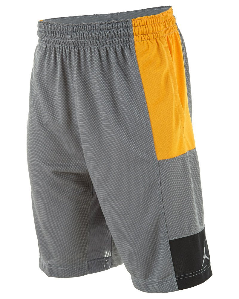 b8800fde08b Get Quotations · Jordan Men's Air Jordan Trillionaire Basketball Shorts -Silver/Orange/Black-Medium
