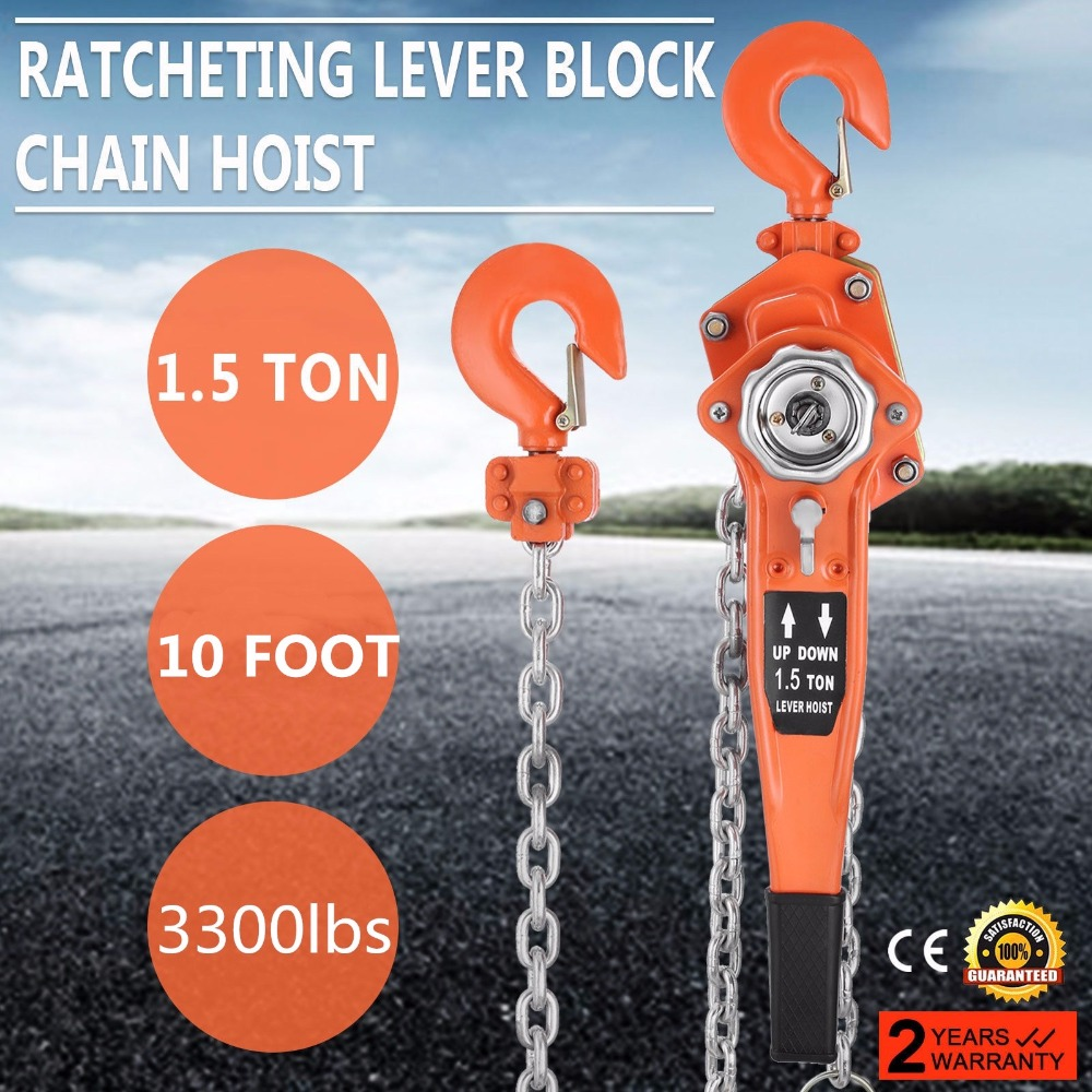Totool Chain Block 15 Ton Hoist 10ft Manual Come 1 Cm Wiring Diagram Along Lift Puller Lever