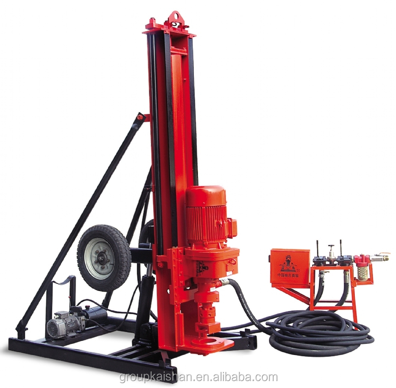 Strong Water well drill machine for sale! KQD165 percussion trailer type hammer drilling rig